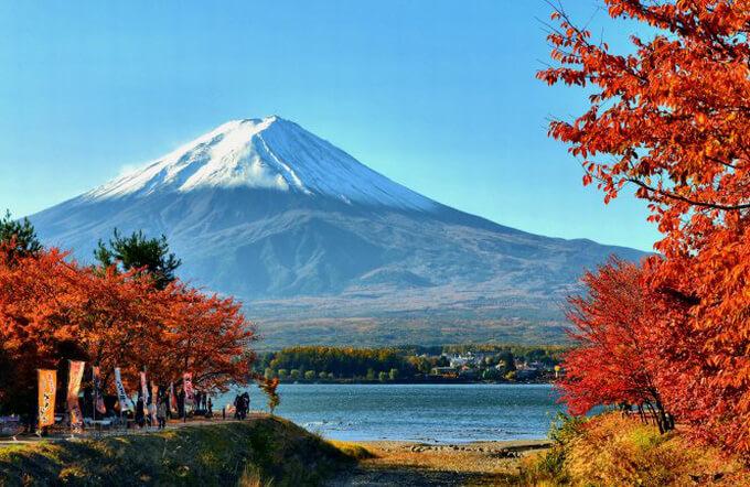 Núi Phú Sỹ nhìn từ hồ Kawaguchi