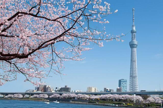 Tháp truyền hình Tokyo Sky Tree.