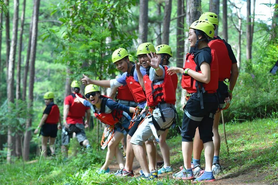 Tour du lịch mạo hiểm Đà Lạt vượt thác Datanla