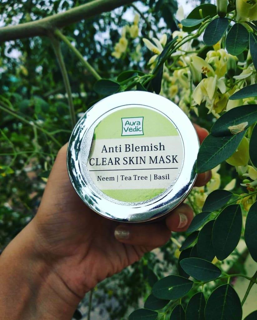 aura vedic anti blemish face mask