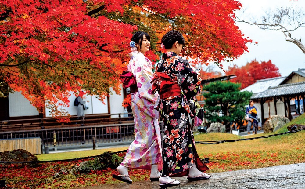 Kimono được mặc vào những dịp lễ tết hoặc các sự kiện quan trọng của Nhật Bản.