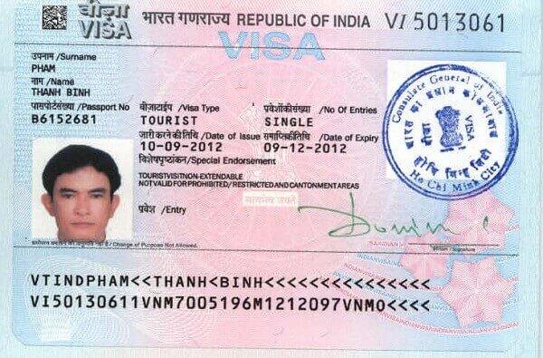làm visa Ấn Độ