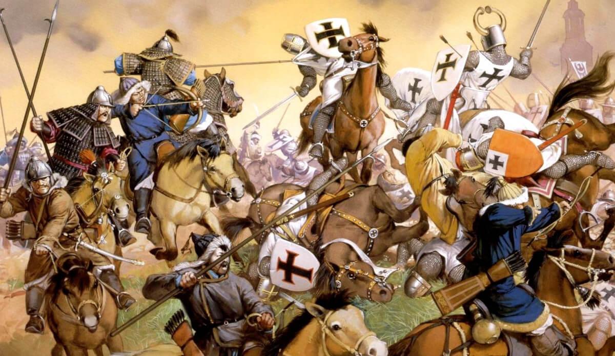 Đội kỵ binh Mông Cổ tái hiện lại qua tranh vẽ
