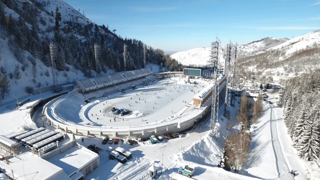 sân trượt băng ở Medeu