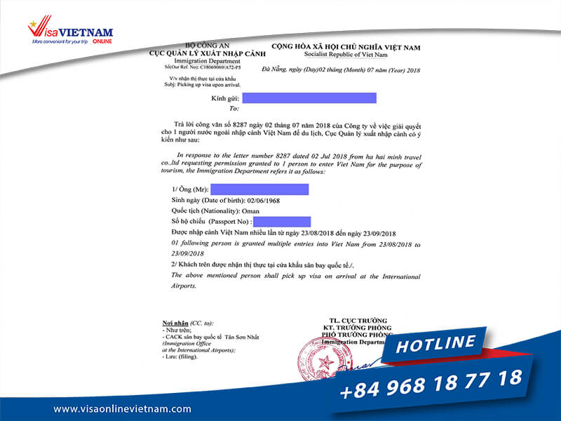 How to get Vietnam visa on arrival from Namibia?