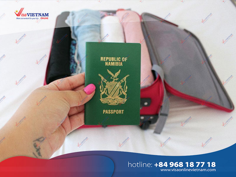 Way to get Vietnam visa on arrival from Namibia