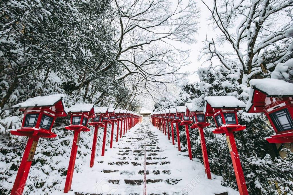Kyoto vào tháng 1